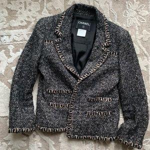 Chanel Multicolor Metallic Bouclé Tweed Blazer